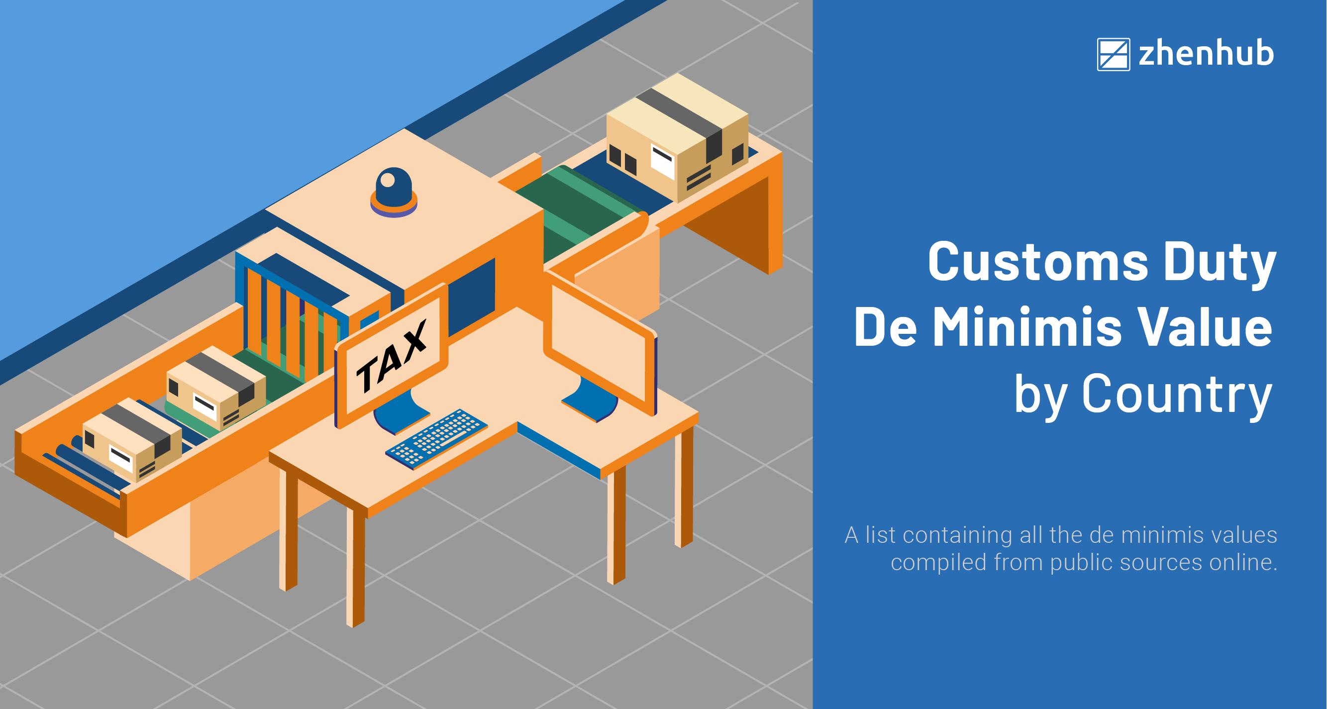 customs-duty-de-minimis-value-by-country-2020